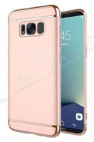 Eiroo Trio Fit Samsung Galaxy S8 Plus 3ü 1 Arada Rose Gold Rubber Kılıf