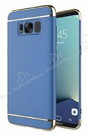 Eiroo Trio Fit Samsung Galaxy S8 3ü 1 Arada Mavi Rubber Kılıf