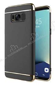 Eiroo Trio Fit Samsung Galaxy S8 3ü 1 Arada Siyah Rubber Kılıf