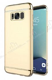 Eiroo Trio Fit Samsung Galaxy S8 3ü 1 Arada Gold Rubber Kılıf