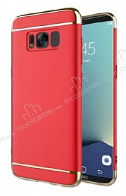 Eiroo Trio Fit Samsung Galaxy S8 3ü 1 Arada Kırmızı Rubber Kılıf