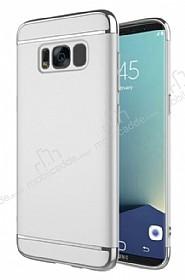 Eiroo Trio Fit Samsung Galaxy S8 3ü 1 Arada Silver Rubber Kılıf