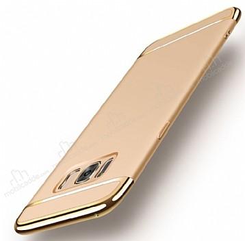 Eiroo Trio Fit Samsung Galaxy S8 Plus 3ü 1 Arada Gold Rubber Kılıf