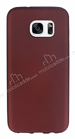 Eiroo Ultra Thin Samsung Galaxy S7 edge Bordo Silikon K�l�f