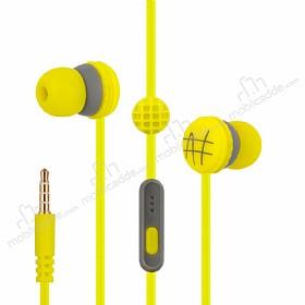 Eiroo Waffle Mikrofonlu Kulakiçi Yeşil Kulaklık