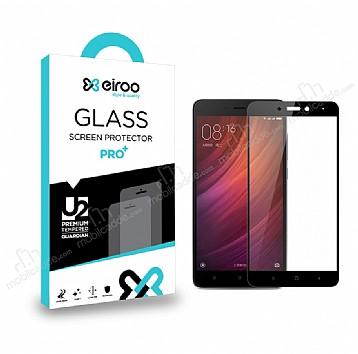Eiroo Xiaomi Redmi Note 4 / Redmi Note 4X Curve Tempered Glass Full Siyah Cam Ekran Koruyucu