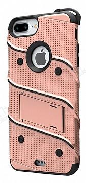 Eiroo Zag Armor iPhone 7 Plus / 8 Plus Standlı Ultra Koruma Rose Gold Kılıf