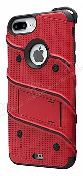 Eiroo Zag Armor iPhone 7 Plus / 8 Plus Standlı Ultra Koruma Kırmızı Kılıf