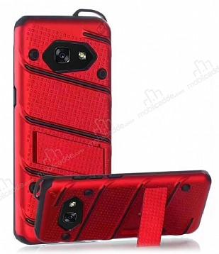 Eiroo Zag Armor Samsung Galaxy A5 2017 Standlı Ultra Koruma Kırmızı Kılıf
