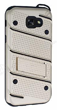Eiroo Zag Armor Samsung Galaxy A7 2017 Standlı Ultra Koruma Gold Kılıf