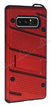 Eiroo Zag Armor Samsung Galaxy Note 8 Standlı Ultra Koruma Kırmızı Kılıf