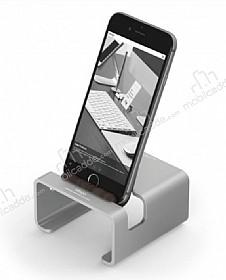 Elago M3 Universal Alüminyum ve Ceviz Ağacı Silver Telefon Standı