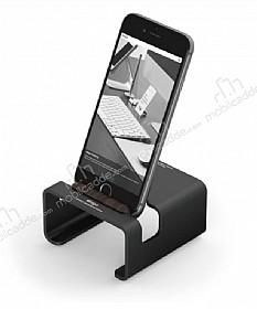 Elago M3 Universal Alüminyum ve Ceviz Ağacı Siyah Telefon Standı