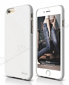 Elago S6 Slim Fit 2 iPhone 6 / 6S Beyaz Rubber Kılıf
