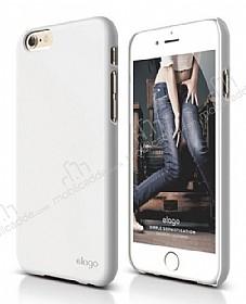 Elago S6 Slim Fit 2 iPhone 6 / 6S Beyaz Rubber Kılıf