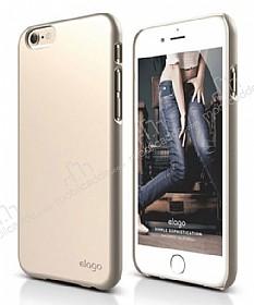 Elago S6 Slim Fit 2 iPhone 6 / 6S Gold Rubber Kılıf