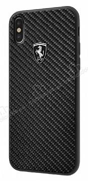 Ferrari iPhone X Karbon Siyah Silikon Kılıf