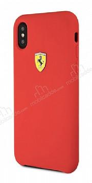 Ferrari iPhone X Kırmızı Silikon Kılıf