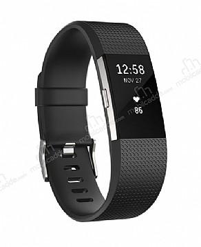 Fitbit Charge 2 Akıllı Bileklik Black Silver Large FB407SBKL-EU