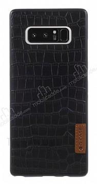 G-Case Dark Series Samsung Galaxy Note 8 Deri Desenli Siyah Rubber Kılıf