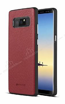 G-Case Duke Series Samsung Galaxy Note 8 Metal Tuşlu Kırmızı Deri Kılıf