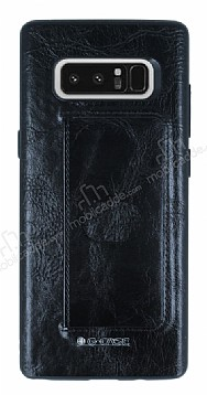 G-Case Majesty Series Samsung Galaxy Note 8 Deri Siyah Rubber Kılıf