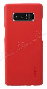 G-Case Noble Samsung Galaxy Note 8 Deri Görünümlü Kırmızı Rubber Kılıf