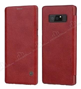 G-Case Samsung Galaxy Note 8 Cüzdanlı İnce Yan Kapaklı Kırmızı Deri Kılıf