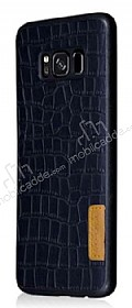G-Case Samsung Galaxy S8 Deri Desenli Siyah Rubber Kılıf