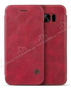 G-Case Samsung Galaxy S8 Plus Cüzdanlı İnce Yan Kapaklı Kırmızı Deri Kılıf