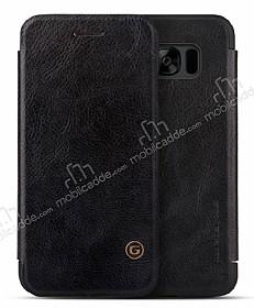 G-Case Samsung Galaxy S8 Plus Cüzdanlı İnce Yan Kapaklı Siyah Deri Kılıf