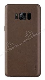 G-Case Samsung Galaxy S8 Plus Deri Görünümlü Kahverengi Rubber Kılıf