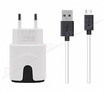 GALIO Yüksek Kapasiteli Micro USB Beyaz Şarj Aleti