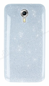 General Mobile Android One Simli Silver Silikon Kılıf