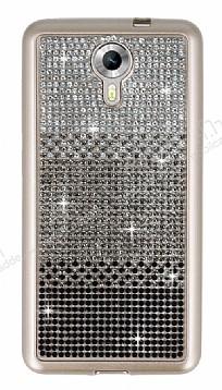 General Mobile Android One Taşlı Geçişli Siyah Silikon Kılıf