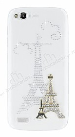 General Mobile Discovery Paris Taşlı Şeffaf Rubber Kılıf