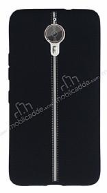 General Mobile GM 5 Plus Kadife Dokulu Siyah Silikon Kılıf