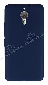General Mobile GM 5 Plus Metal Tuşlu Mat Lacivert Silikon Kılıf