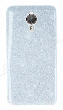 General Mobile GM 5 Plus Simli Silver Silikon Kılıf