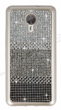 General Mobile GM 5 Plus Taşlı Geçişli Siyah Silikon Kılıf