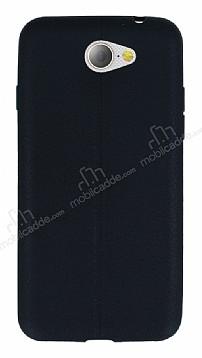 General Mobile GM6 Deri Desenli Ultra İnce Siyah Silikon Kılıf