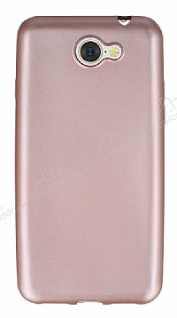 General Mobile GM6 Mat Rose Gold Silikon Kılıf