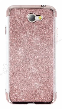 General Mobile GM6 Simli Rose Gold Silikon Kılıf