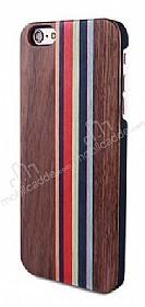 GOODEA iPhone 6 Plus / 6S Plus Darkwood Rainbow Ahşap Kılıf