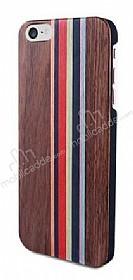 GOODEA iPhone 7 / 8 Darkwood Rainbow Ahşap Kılıf