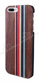 GOODEA iPhone 7 Plus / 8 Plus Darkwood Rainbow Ahşap Kılıf