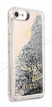 Guess Glitter iPhone 7 / 8 Simli Silver Silikon Kılıf