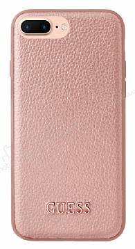 Guess iPhone 7 Plus / 8 Plus Rose Gold Deri Kılıf