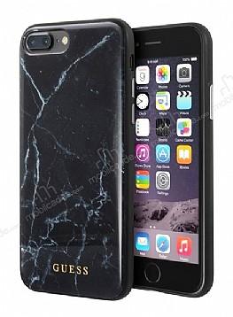 Guess iPhone 7 Plus / 8 Plus Granit Desenli Siyah Silikon Kılıf