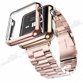 Hoco Apple Watch Rose Gold Metal Kordon 42 mm (Kılıf Hediyeli)